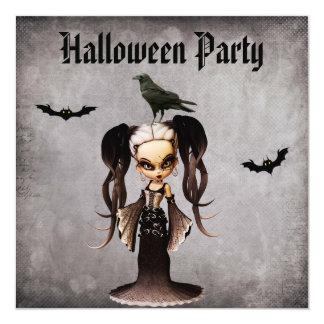 """Novia de Frankie y damasco caprichosos Halloween Invitación 5.25"""" X 5.25"""""""