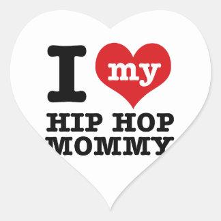 Novia de Hip Hop Calcomanía Corazón