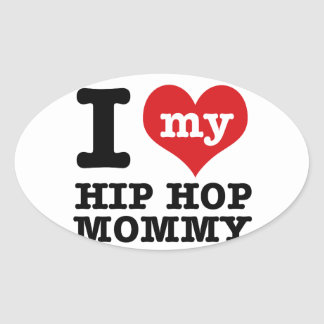 Novia de Hip Hop Pegatina Ovalada
