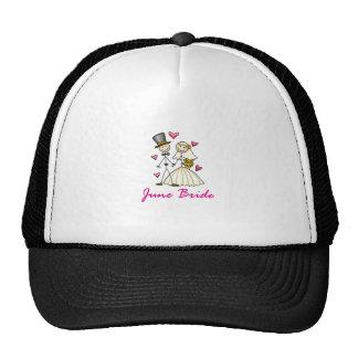 Novia de junio gorras de camionero