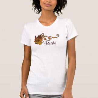 Novia de la caída de las hojas de otoño camiseta