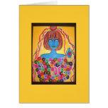 Novia de la diosa tarjeta de felicitación
