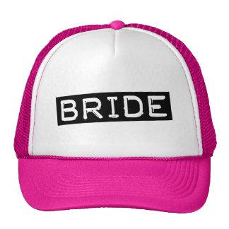 Novia de la etiqueta gorras de camionero