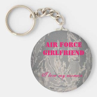 Novia de la fuerza aérea, amo mi… llavero redondo tipo pin