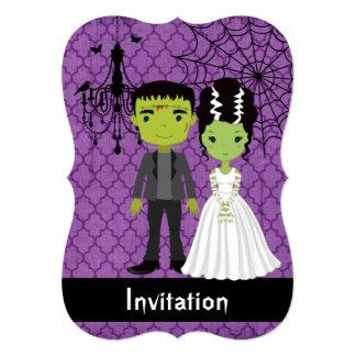 Novia de la invitación del boda de Halloween de