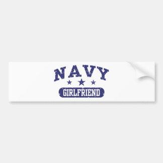 Novia de la marina de guerra etiqueta de parachoque