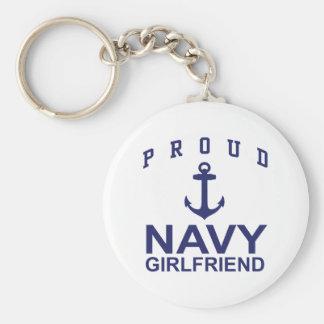 Novia de la marina de guerra llavero redondo tipo pin