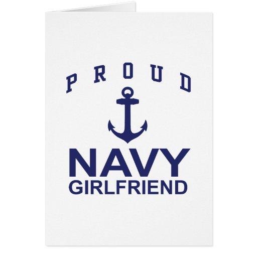 Novia de la marina de guerra tarjeta de felicitación