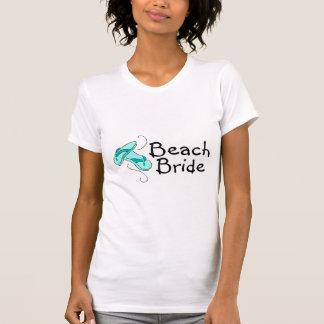 Novia de la playa (boda de playa) camisetas