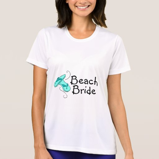 Novia de la playa (flip-flop) camiseta