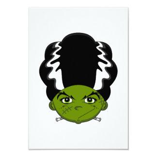 "Novia de la tarjeta de Frankensteins RSVP Invitación 3.5"" X 5"""