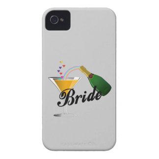 Novia de la tostada de Champán iPhone 4 Case-Mate Carcasas