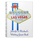 Novia de Las Vegas del libro de visitas Libreta Espiral