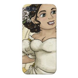 Novia de los rosas blancos iPhone 5 carcasas