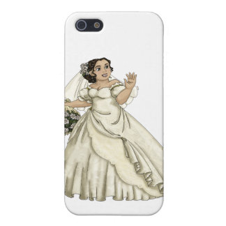 Novia de los rosas blancos iPhone 5 fundas