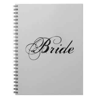 Novia de lujo en gris spiral notebook