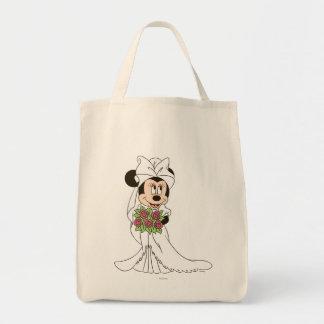 Novia de Minnie Mouse el | en el boda Bolsa Tela Para La Compra