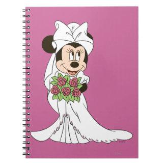 Novia de Minnie Mouse Libretas Espirales