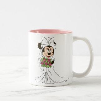 Novia de Minnie Mouse Taza Dos Tonos