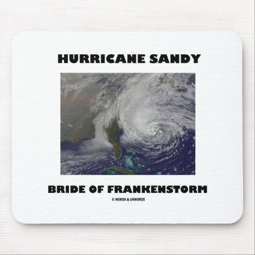 Novia de Sandy del huracán de Frankenstorm Alfombrilla De Ratones