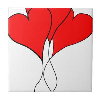 novia del amor de la esposa de la tarjeta del día azulejo cuadrado pequeño