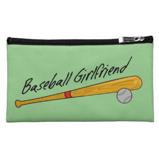 Novia del béisbol - bolso del cosmético del ante