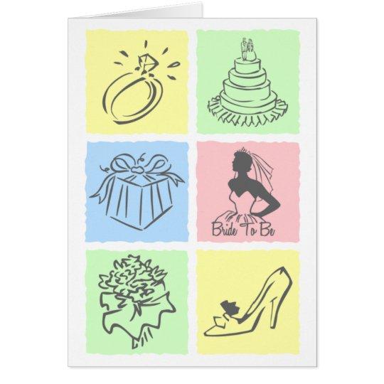 Novia del bloque del color tarjeta de felicitación
