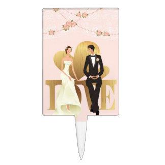 Novia del boda y top de la torta del novio figura de tarta