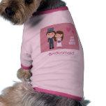 Novia del dibujo animado y suéter lindos del perro camisetas de perrito