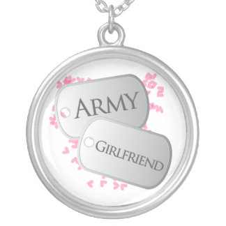 Novia del ejército de las placas de identificación collar plateado