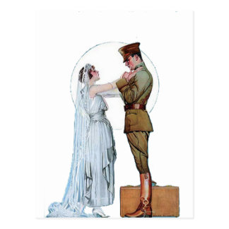 Novia del ejército del vintage WWI Tarjetas Postales