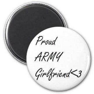 Novia del ejército iman de nevera