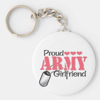 Novia del ejército llaveros personalizados
