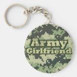 Novia del ejército llavero personalizado