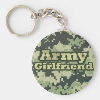 Novia del ejército llavero redondo tipo pin
