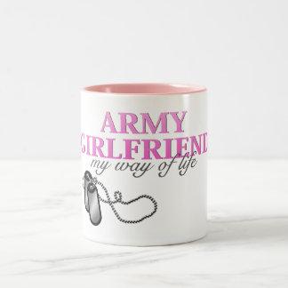 Novia del ejército, mi manera de vida taza de dos tonos