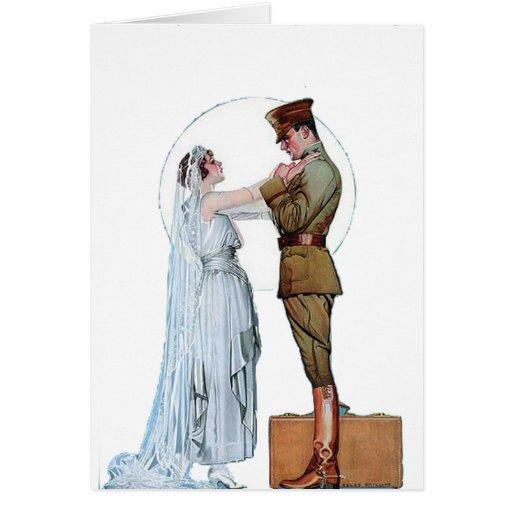 Novia del ejército tarjeta