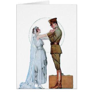 Novia del ejército tarjeta de felicitación