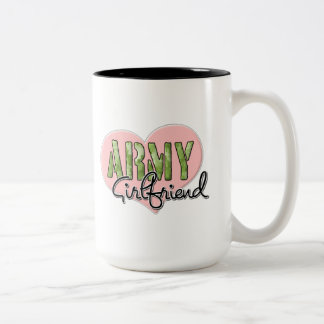 Novia del ejército taza de dos tonos