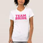 Novia del equipo camiseta