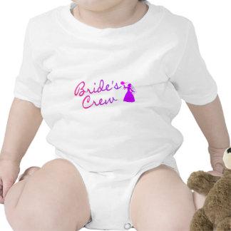 Novia del equipo de las novias trajes de bebé