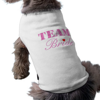 Novia del equipo playera sin mangas para perro