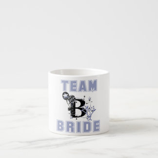 Novia del equipo taza de espresso