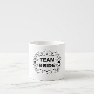 Novia del equipo taza espresso