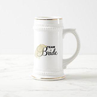 Novia del equipo (velo) taza de café