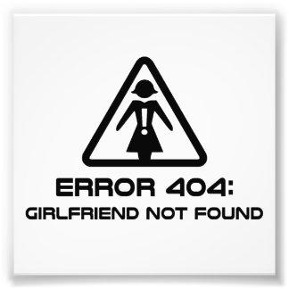 Novia del error 404 no encontrada impresión fotográfica