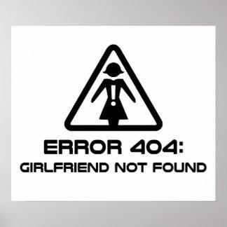 Novia del error 404 no encontrada póster