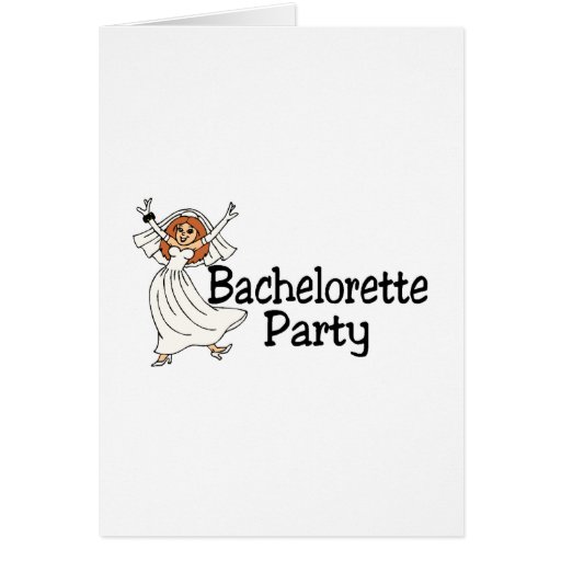 Novia del fiesta de Bachelorette Tarjetas