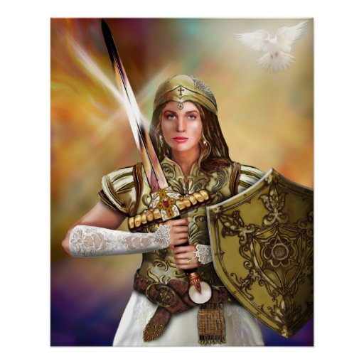 Novia del guerrero de Cristo Poster