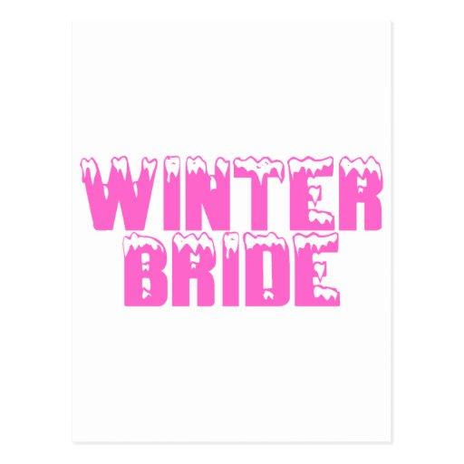 Novia del invierno tarjeta postal
